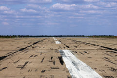 Runway on aerodrome Royalty Free Stock Photo