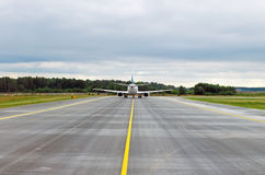 Runway. Air aircraft airline airplane airport arrival aviation background Royalty Free Stock Images