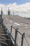Runway on an Aircraft Carrier Royalty Free Stock Photos