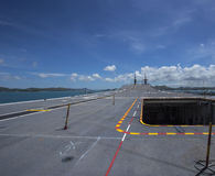 Runway on an Aircraft Carrier Stock Photo