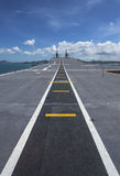 Runway on an Aircraft Carrier Royalty Free Stock Photography