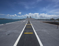 Runway on an Aircraft Carrier Royalty Free Stock Images