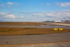 Runway at the airport Stock Photo