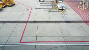 The runway. In the airport Stock Image