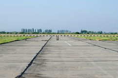 Runway at the airport in the Crimea Royalty Free Stock Photography