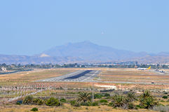 Airport Runway Alicante Royalty Free Stock Photography