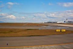 Runway At The Airport Stock Photo