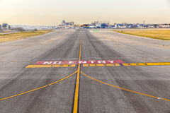 Runway at  Barajay Airport  in Madrid, Spain Royalty Free Stock Photo