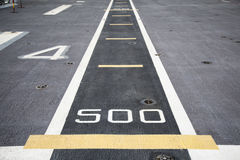 Runway on the deck Royalty Free Stock Photo