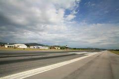 Runway of Hua Hin airport against blue sky Royalty Free Stock Photos