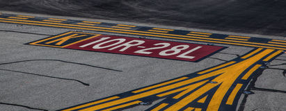Runway Markings at San Francisco International Airport Royalty Free Stock Image