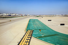 Runway with marks at the airport Stock Images