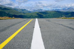 Runway in the mountains Stock Photo