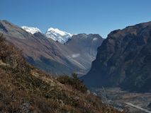 Runway And Mountains In Humde, Nepal Royalty Free Stock Photo
