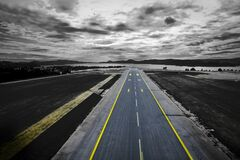 Runway near coast Stock Photos
