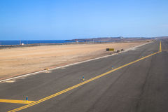 Runway with ocean Stock Images