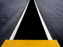 Runway painted on an aircraft carrier Royalty Free Stock Images