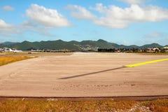 runway Philipsburg, Сен-Мартен Стоковое Фото