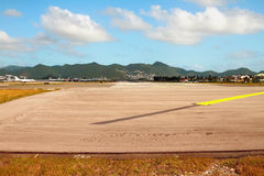 Runway. Philipsburg, Saint-Martin Stock Photo