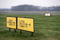 Runway signs Royalty Free Stock Images