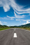 Runway strip with stunning sky Stock Photography