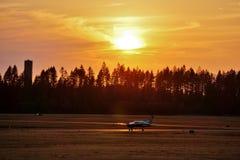 Runway sun set Royalty Free Stock Images