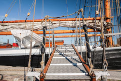 Runway of a tall sailing ship Stock Images