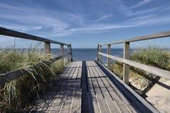 Runway to the ocean. On the istland of Sylt near Westerland Stock Photos