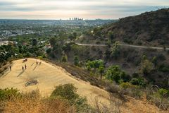 Runyon Canyon Park, Los Angeles stock images