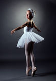 Ruolo elegante di dancing della ragazza del cigno bianco Fotografia Stock Libera da Diritti