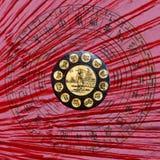 Ruota cinese dello zodiaco immagine stock