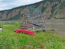 Ruota dei pesci sul fiume Yukon Immagine Stock