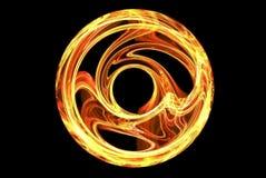 Ruota del fuoco Fotografia Stock