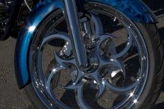 Ruota del motociclo Immagini Stock