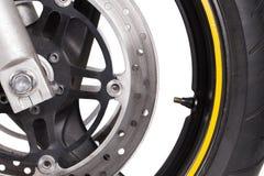 Ruota del motociclo Fotografie Stock