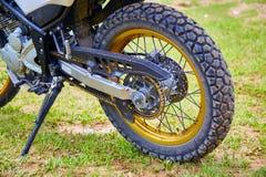 Ruota del motociclo Fotografie Stock Libere da Diritti