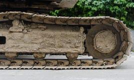 Ruota del trattore a cingoli Fotografie Stock