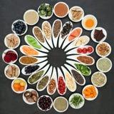 Ruota dell'alimento salutare Fotografia Stock