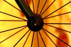 Ruota della bici Fotografia Stock