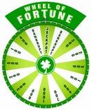 Ruota della fortuna verde Immagini Stock Libere da Diritti
