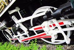 Ruota della locomotiva della corrente Fotografia Stock