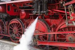 Ruota della locomotiva a vapore Fotografia Stock Libera da Diritti