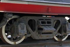 Ruota della locomotiva a vapore ed il dispositivo attenuante Fotografia Stock Libera da Diritti