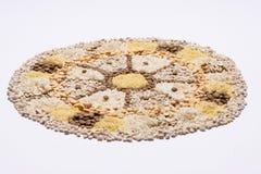 Ruota della mandala dell'alimento Fotografia Stock