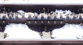 Ruota dentata con neve intorno Immagine Stock Libera da Diritti
