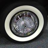 Ruota di automobile d'annata classica Fotografia Stock Libera da Diritti