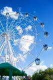 Ruota di bianco di Ferris immagine stock