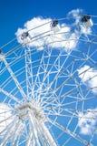 Ruota di bianco di Ferris fotografia stock libera da diritti