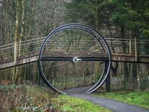 Ruota di bicicletta gigante Fotografia Stock Libera da Diritti