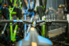Ruota di bicicletta nera Immagini Stock Libere da Diritti